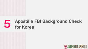 Apostille FBI Background Check
