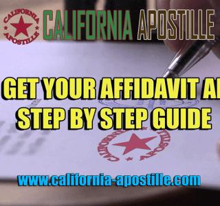California affidavit apostille