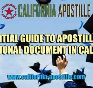 Apostille Educational Document in California