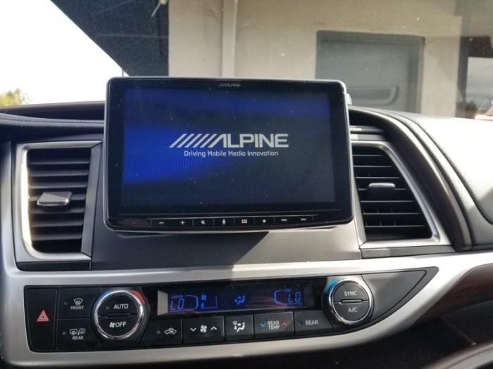 Toyota Highlander Radio Upgrade for San Jose Client