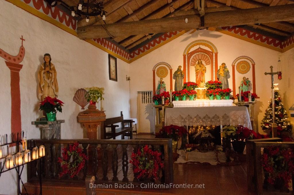 San Antonio de Pala church with St. Kateri statue