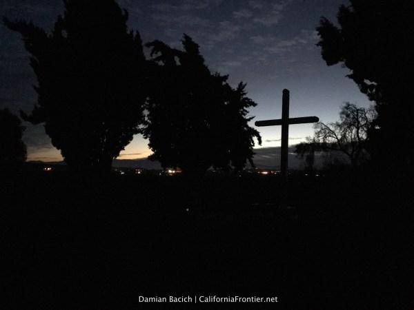 Sunrise at Mission San Juan Bautista.