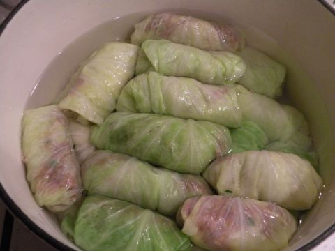 Greek stuffed cabbage
