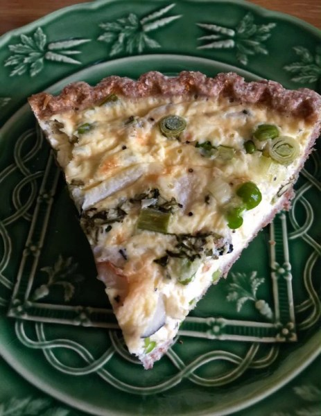 slice of garden quiche