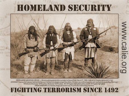 Image result for homeland security since 1492 poster