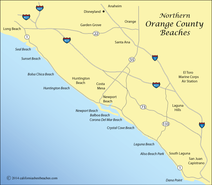 San Clemente Ca County Map