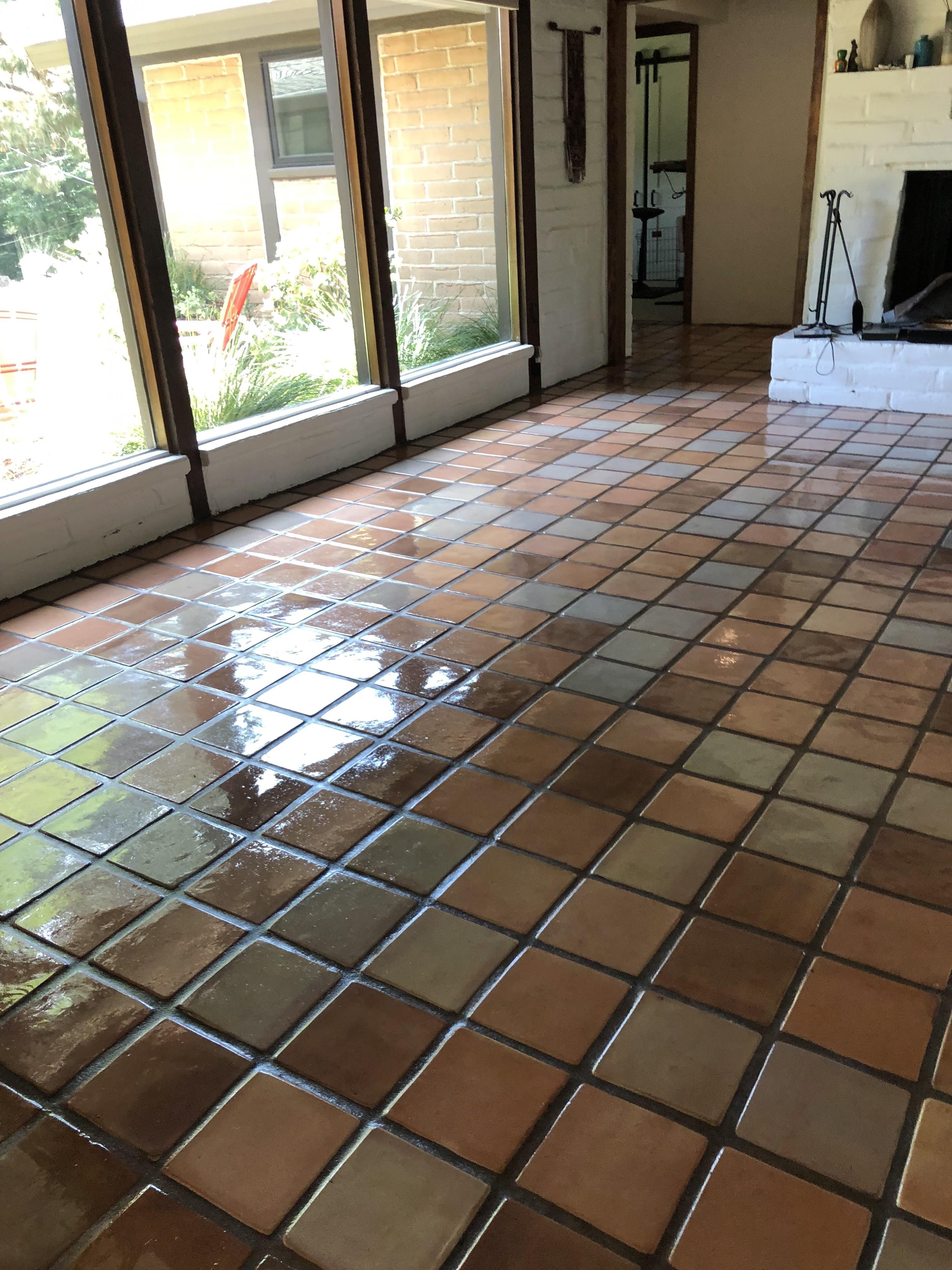 best saltillo tile stain colors