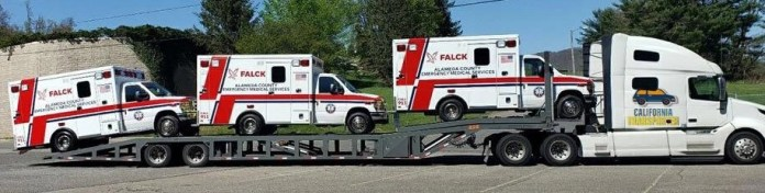 Emergency Equipment Transport in California, California Emergency Equipment Shipping