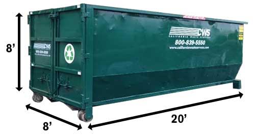 Image result for 40-yard dumpster images