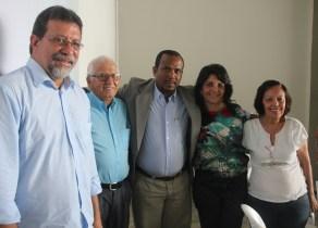 Deputado Federal Afonso Florence, Misael Ferreira presodente dos sindicato dos produtores do sisal, Prefeito Adriano, Vice Ivana Meury, Cecilia Petrina, Presidente do CODESsisal