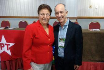 Fátima Nunes e Rui Falcão, presidente nacional do PT.