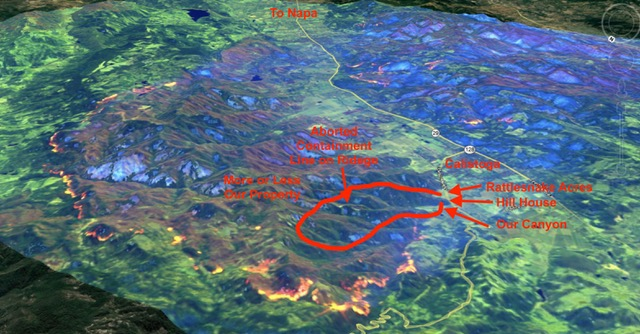 Satellite image of the fire