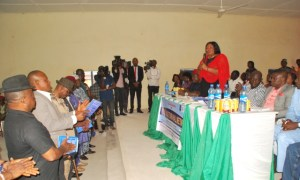 Members of the Boki II State Constituency Special Advisory Committee, being addressed by SSG, Tina Agbor
