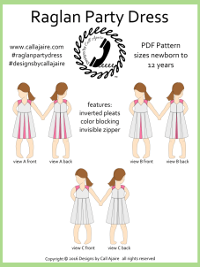 Raglan Party Dress Cover Page