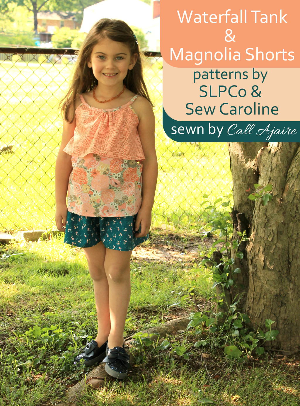 Waterfall Tank & Magnolia Shorts patterns by SLPCo & Sew Caroline