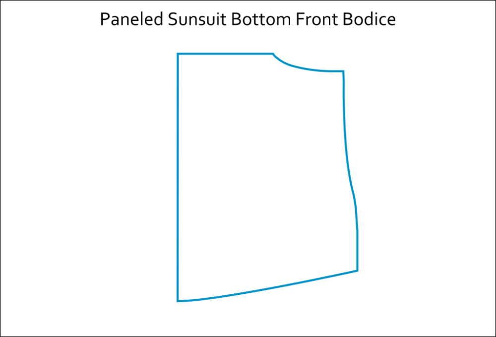 A-line Tunic Paneled Sunsuit Hack