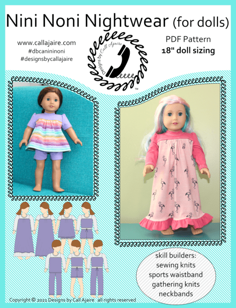 Nini Noni Nightwear 18 Inch Doll Pajamas