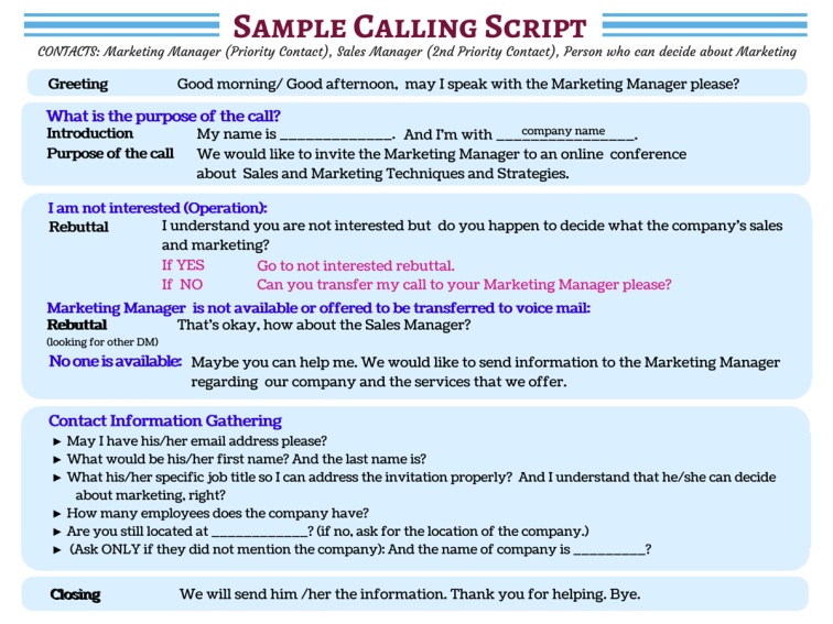 Don T Waste A Moment See Sample Cold Calling Scripts