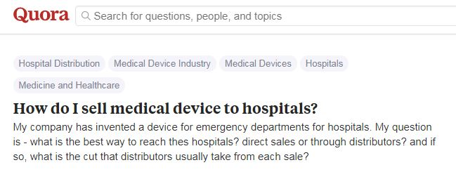 How do I sell medical devices