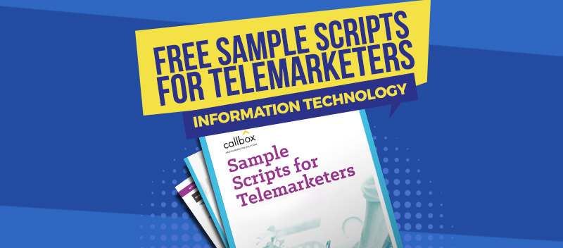 Sample Scripts for Telemarketers - Information Technology