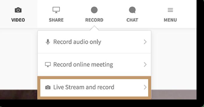 Live Stream and record