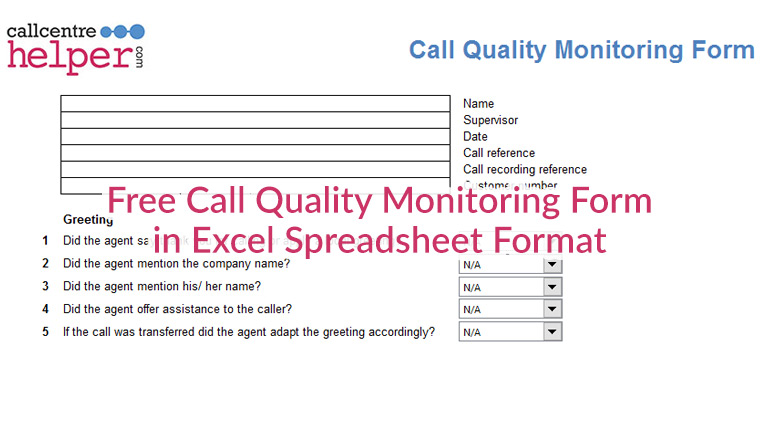 Free Call Monitoring Evaluation And Coaching Form