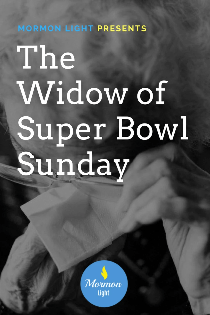 the widow of superbowl sunday