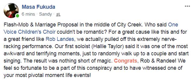 Rob Landes Wedding Proposal