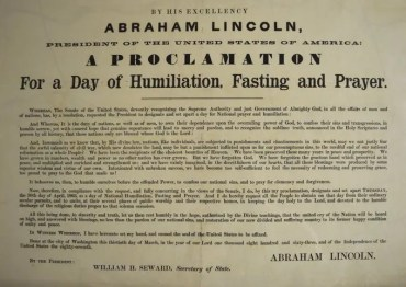 Abraham Lincoln National Day of Fasting
