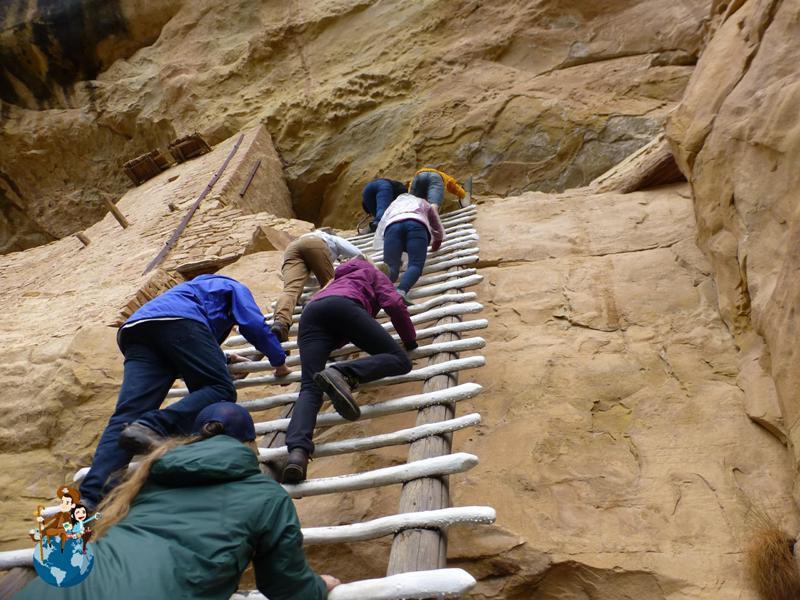 Camino de acceso a Balcony House - Parque Nacional Mesa Verde
