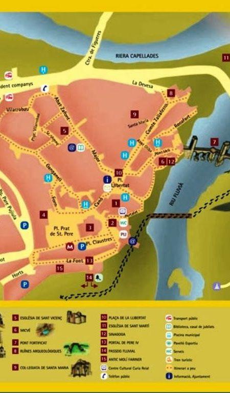 Mapa turístico de Besalú