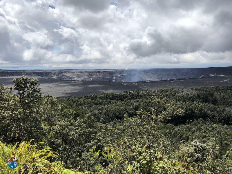 Caldera Volcán Kilauea - Parque Nacional de los Volcanes