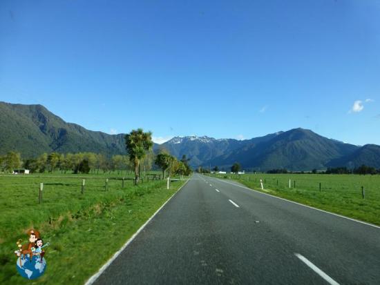 Ruta desde Abel Tasman a Franz Josef - Nueva Zelanda
