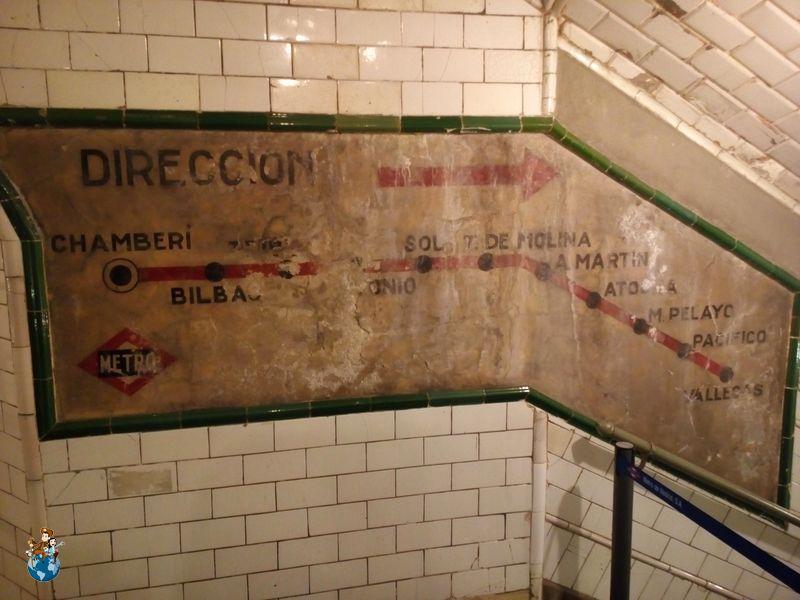Pasillo Estación fantasma de Chamberí