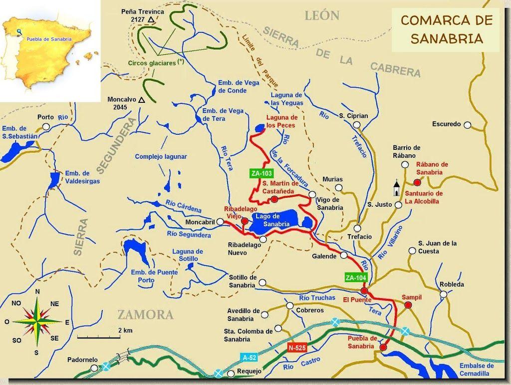 Resultado de imagen de comarca de sanabria mapa