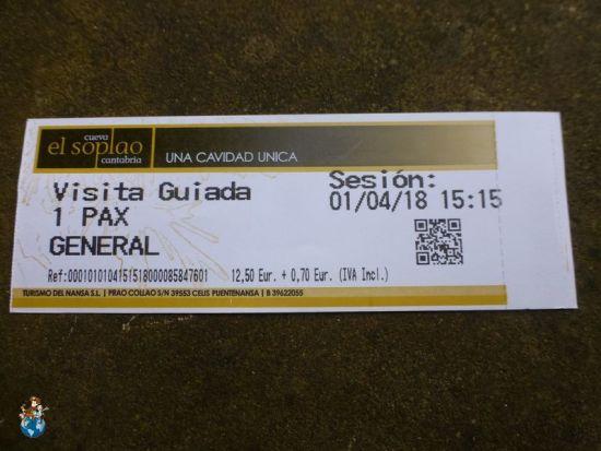 Ticket entrada Cueva del Soplao