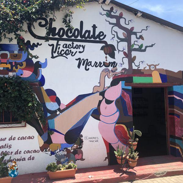 Fábrica de Chocolate artesanal Licor Marrón en San Juan La Laguna