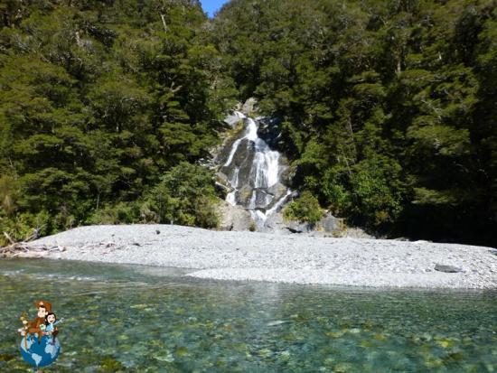 Fantail Falls - Parque Nacional Mount Aspiring