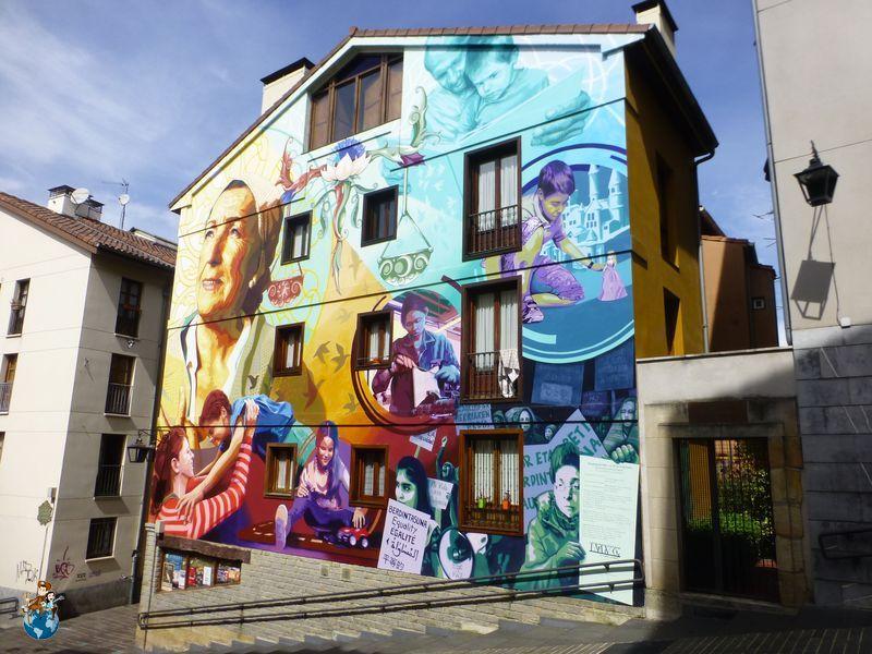 Mural La luz de la esperanza - Ruta murales Vitoria-Gasteiz