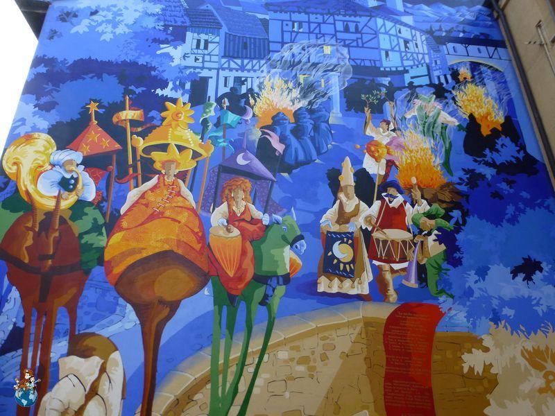 Mural La noche más corta - Ruta murales Vitoria-Gasteiz