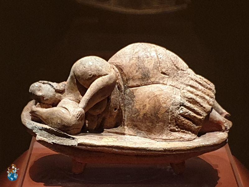 """""""Dama durmiente"""" en el Museo Arqueológico de La Valetta"""