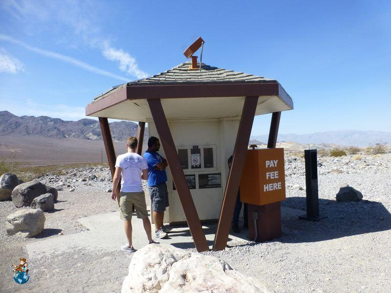 Cajero automático para pagar entrada a Death Valley