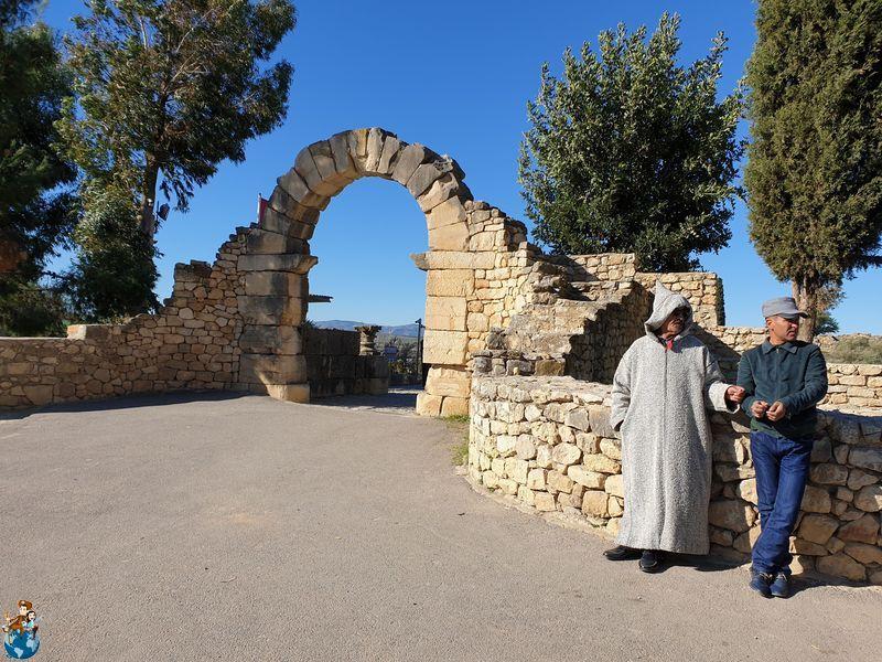 Puerta César en Volubilis - entrada principal