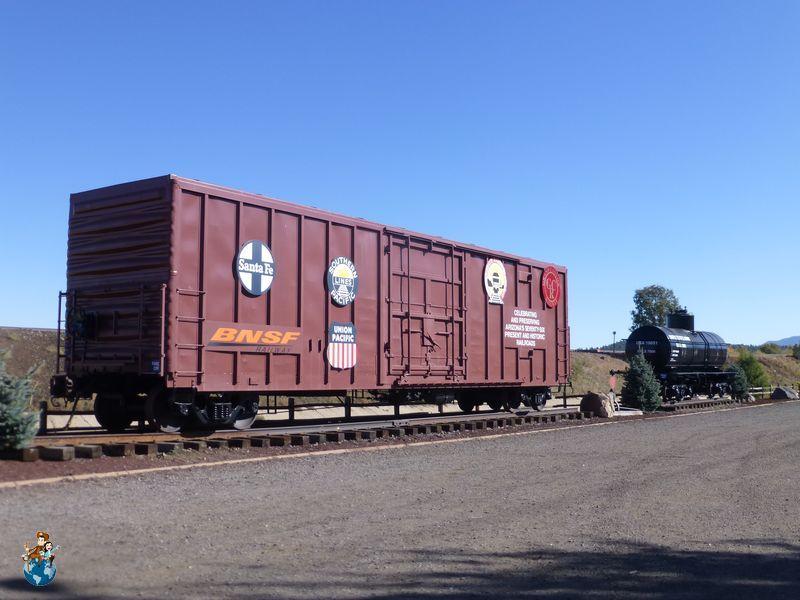 Vagón del Ferrocarril Santa Fe en Williams