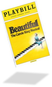 The playbill from Beautiful: The Carole King Musical