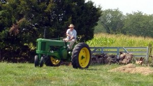 Mom says that I'm really a farmer now! :-)