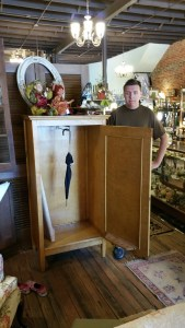 I had John stand next to the armoire to show its size