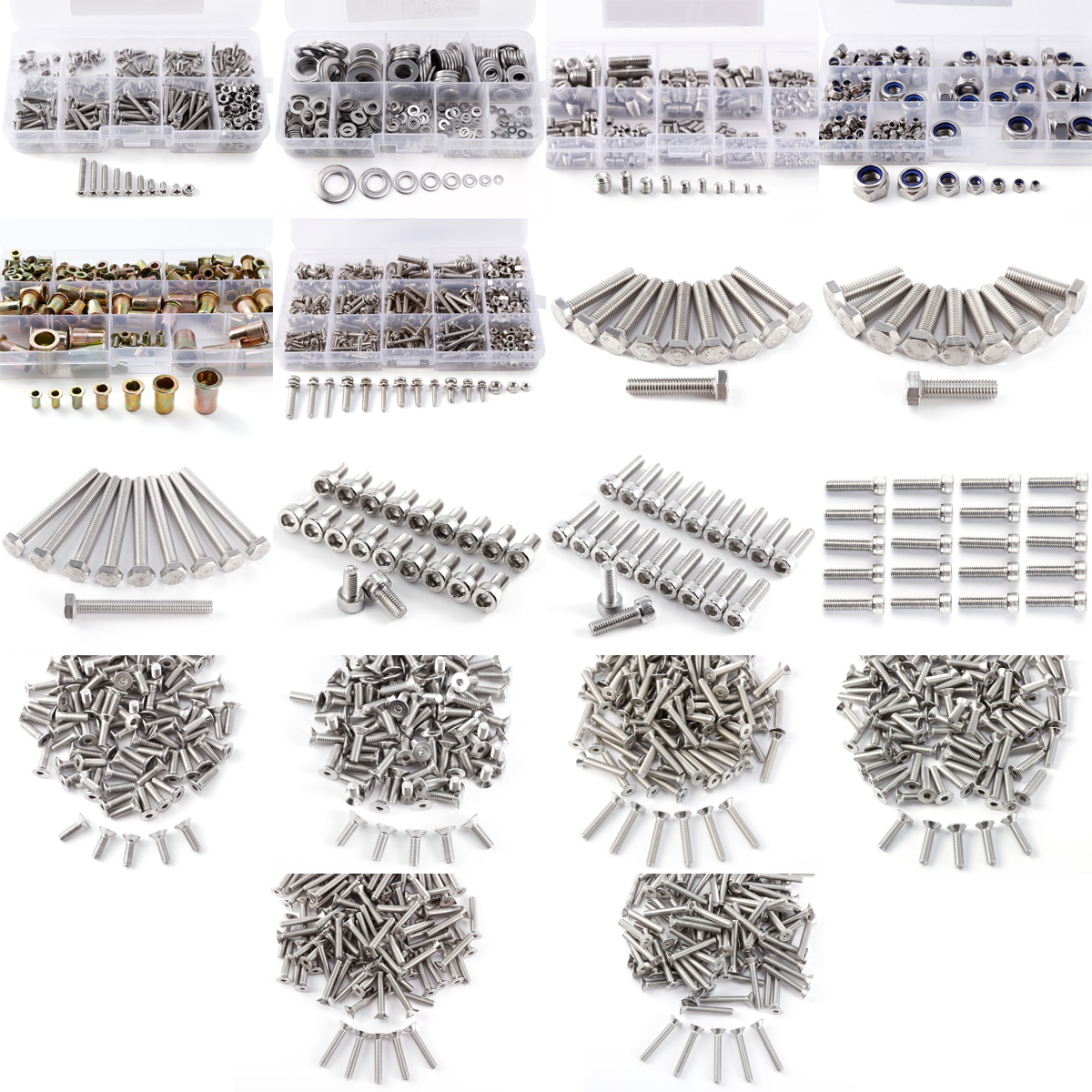 Stainless Steel Hex Socket Head Cap Bolts Screws Nuts And