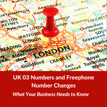 UK 03 Numbers and Freephone Number Changes