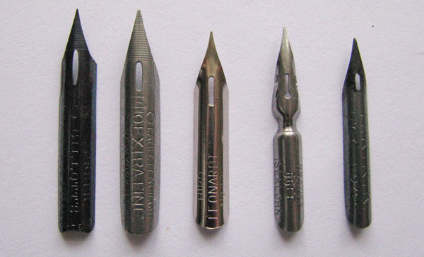 pointed nibs